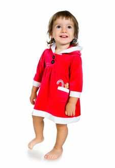 Christmas Cute Kid Stock Photo