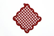 Free Red And White Checkered Potholder Stock Image - 20663281