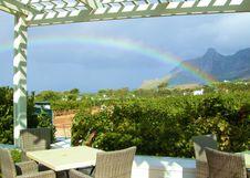 Free Rainbow Over Wine Farm Royalty Free Stock Photo - 20664095