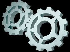 Free Two Steel Gears Stock Photos - 20664723