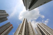 Hong Kong Apartment Blocks Stock Images