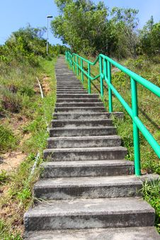 Free Hiking Stairs In Mountain Royalty Free Stock Images - 20665359