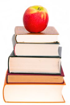Free An Apple On A Book Pile Royalty Free Stock Photo - 20665635