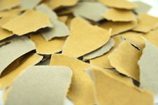 Free Close Up Torn Brown Paper Royalty Free Stock Image - 20665876