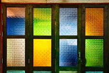 Free Native Thai Style Colorful Glass Windows Stock Photo - 20665960