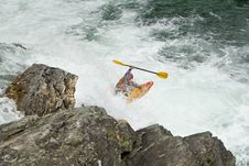 Free Kayaker In The Waterfall Royalty Free Stock Photography - 20666047
