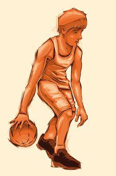 Free Basket Boy. Stock Photo - 20666260