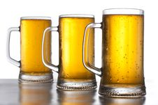 Free Three Mug Of Beer Stock Photography - 20667192