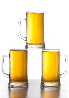 Free Three Mug Of Beer Royalty Free Stock Image - 20667196