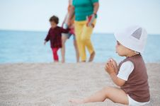 Free Child On Beach Stock Photography - 20667332