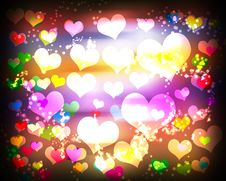Free Abstract Background With Hearts Stock Photography - 20667502