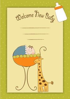 Free Baby Invitation With Teddy Bear Royalty Free Stock Image - 20667676