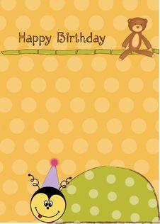 Free Happy Birthday Card Royalty Free Stock Photography - 20667767