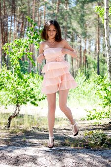 Free Woman In The Woods Royalty Free Stock Photos - 20668138