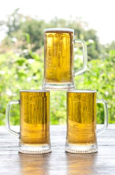 Free Three Mug Of Beer Royalty Free Stock Photos - 20668228