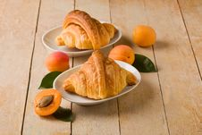 Free Croissants With Apricot Marmalade Stock Photography - 20668252