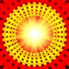 Free Red Spirutal Sun Background Stock Images - 20668424