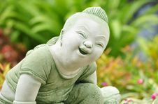 Free Smile Thai Child Statue Stock Photo - 20669850