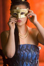 Free Young Teen Woman At Masquerade Ball Royalty Free Stock Images - 20676739