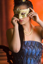 Free Young Teen Woman At Masquerade Ball Royalty Free Stock Images - 20676769