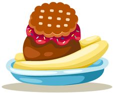 Free Banana Split Ice Cream Royalty Free Stock Images - 20670229