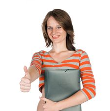 Free Beautiful Young Woman With A Folder Stock Photography - 20670752