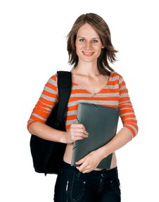 Free Beautiful Young Woman With A Folder Stock Photo - 20670760