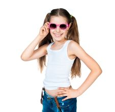 Free Cute Girl With Pink Sunglasses Stock Photos - 20670853