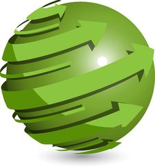 Free Green Ball Royalty Free Stock Photos - 20671678
