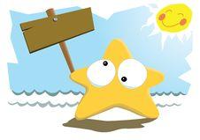 Starfish & The Sun Stock Photo