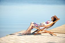 Free Woman On Lakeside Royalty Free Stock Photography - 20672417