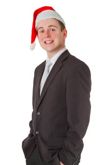 Free Businessman With Chrismas Hat Royalty Free Stock Image - 20672886
