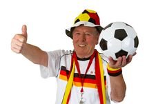 Free Senior Soccer Fan Royalty Free Stock Photography - 20672967