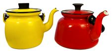 Free Red & Yellow Coffee Pot Stock Images - 20673114