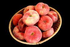 Mountain Peach On Black Royalty Free Stock Image