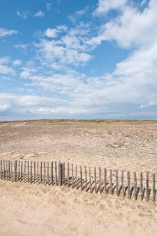 Free Dunes Landscape With Fence - Quiberon Royalty Free Stock Images - 20674459