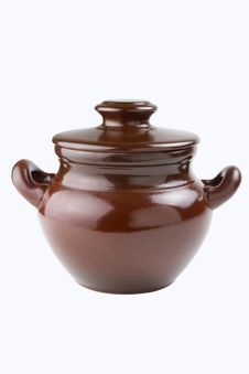 Clay Pot For Cooking Royalty Free Stock Photos