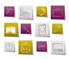 Free School And Education Icons Royalty Free Stock Photos - 20675278