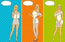 Free Beautiful Cartoon Girls Stock Photography - 20675432