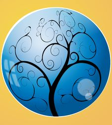 Swirl Tree In The Sphere Stock Images