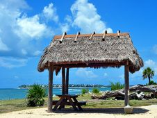 Thatched Roof Tiki Hut Royalty Free Stock Images