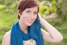 Free Pretty Young Adult Female Outdoor Portrait Royalty Free Stock Images - 20676689