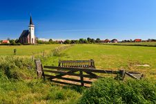 Free Church With Grassland On A Sunny Day Royalty Free Stock Photos - 20676718
