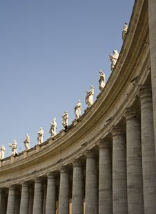 Free St Peter S Square Colonnade Royalty Free Stock Photography - 20677547