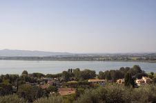 Free Umbria, Italy. Trasimeno Lake, Cortona Royalty Free Stock Photo - 20679395