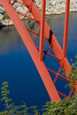Free Red Bridge And Blue Water Royalty Free Stock Image - 20685156