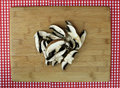 Free Fresh Sliced Portabella Mushrooms On Cutting Board Royalty Free Stock Images - 20688389