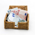 Free Isolated Euros Lying In The Opened Box Stock Photo - 20689230