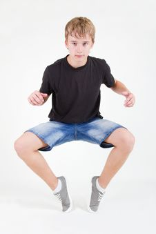 Free Teen B-boy Standing On His Tiptoes Stock Photography - 20680232