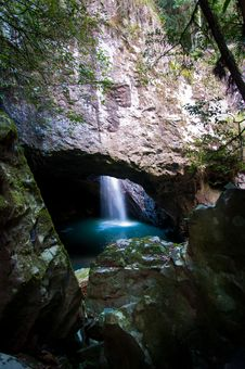 Free Cave Water Fall Royalty Free Stock Image - 20680576